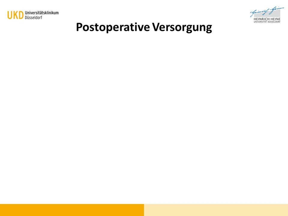 Postoperative Versorgung