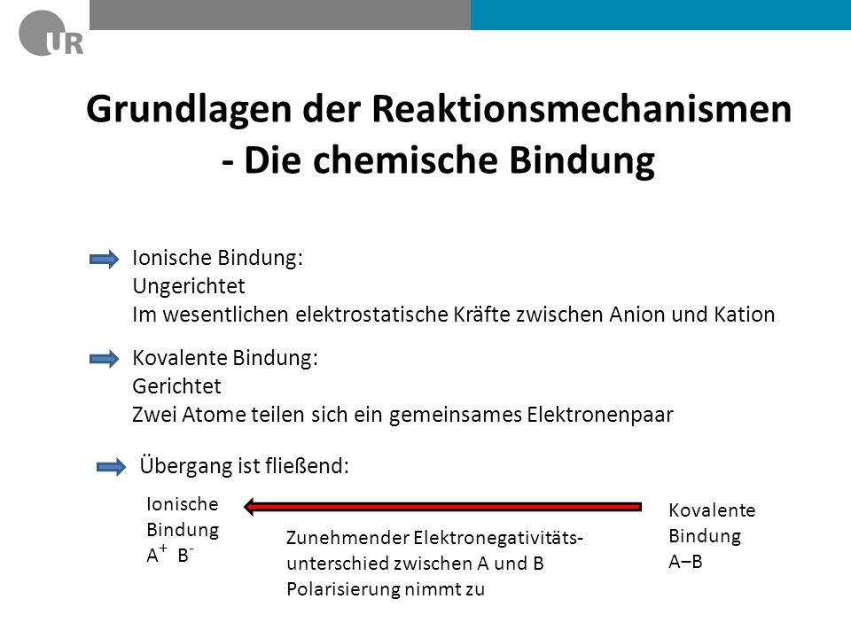 Grundlagen der Reaktionsmechanismen - Die chemische Bindung