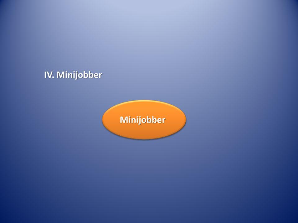 IV. Minijobber Minijobber
