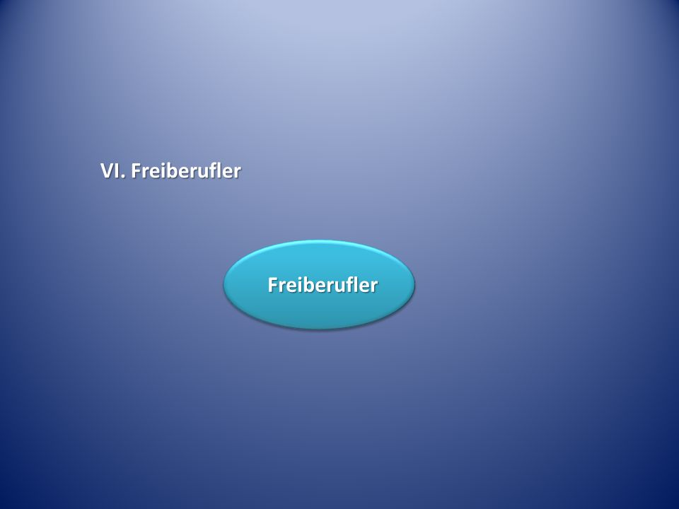 VI. Freiberufler Freiberufler