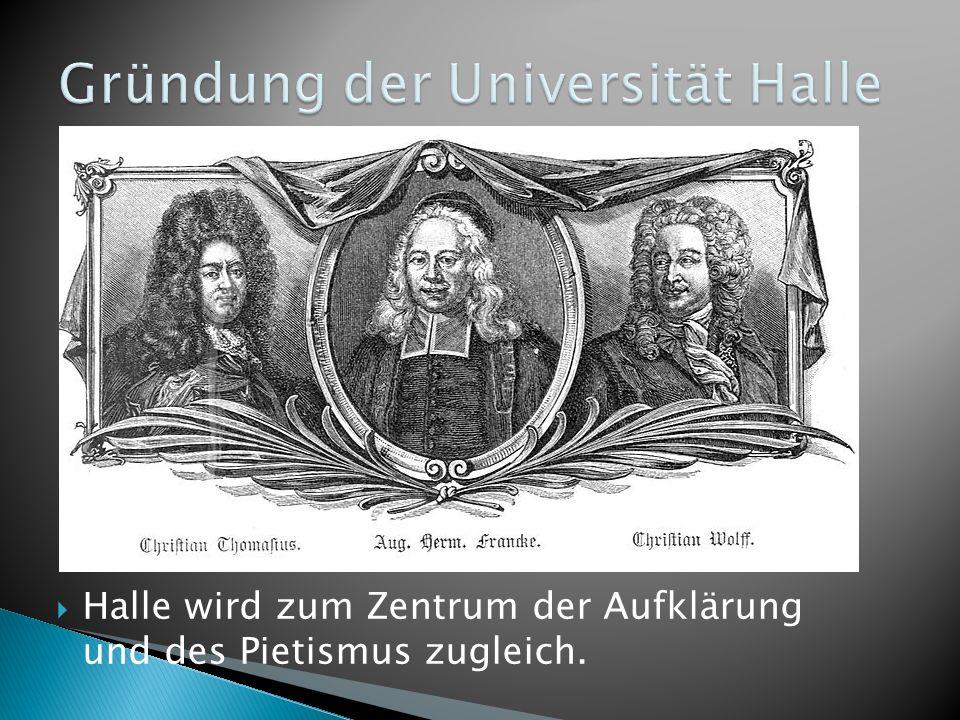 Gründung der Universität Halle