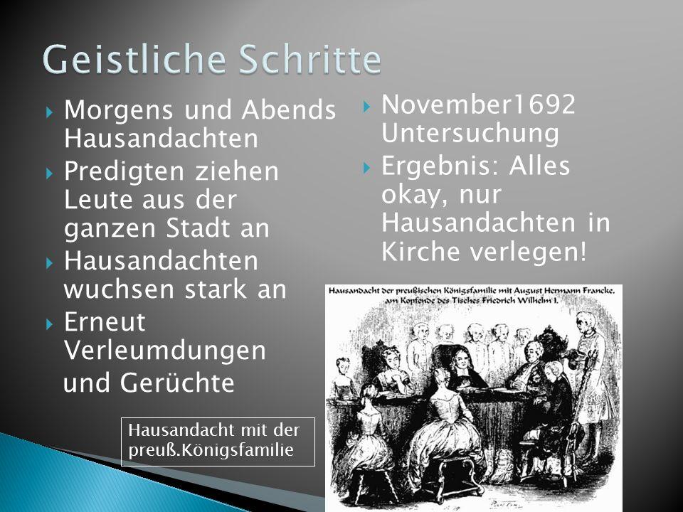 Geistliche Schritte November1692 Untersuchung