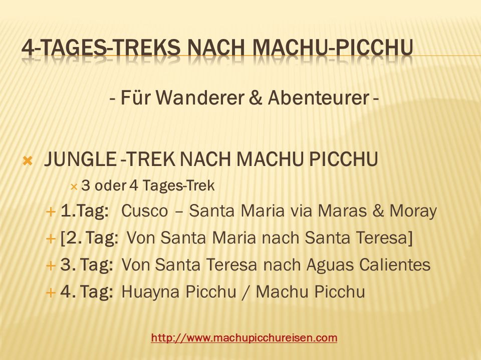 4-Tages-treks nach machu-picchu