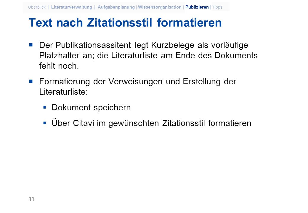 Text nach Zitationsstil formatieren
