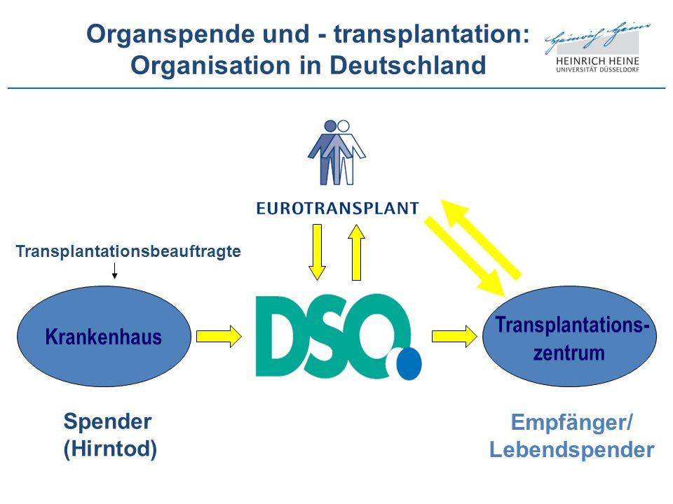 Organspende und - transplantation: Organisation in Deutschland