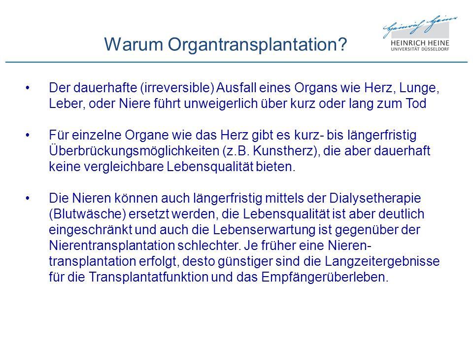 Warum Organtransplantation