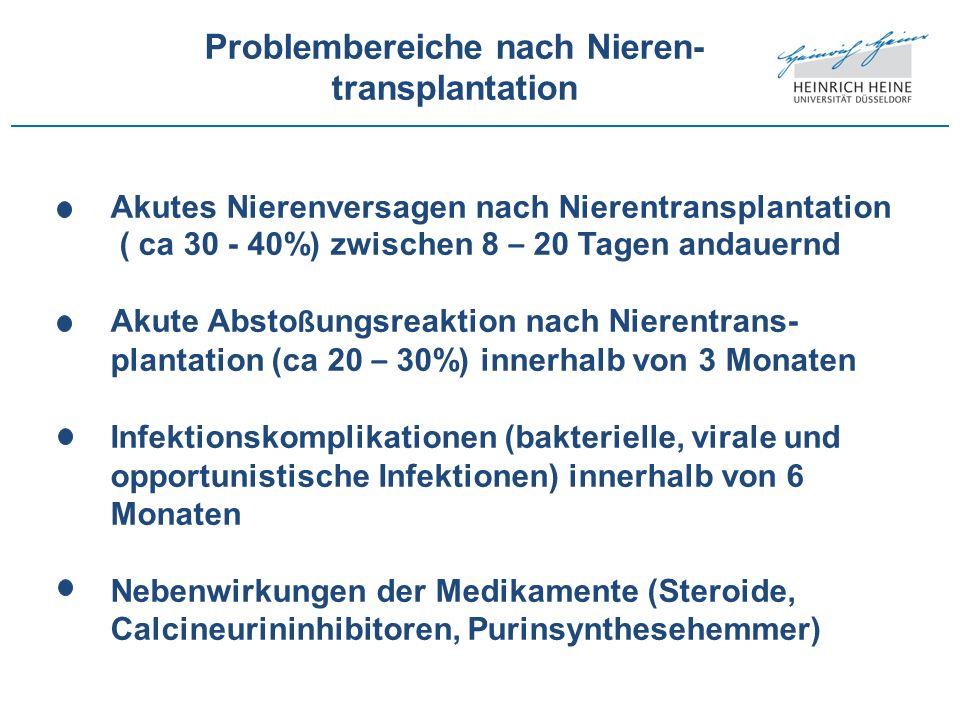 Problembereiche nach Nieren-