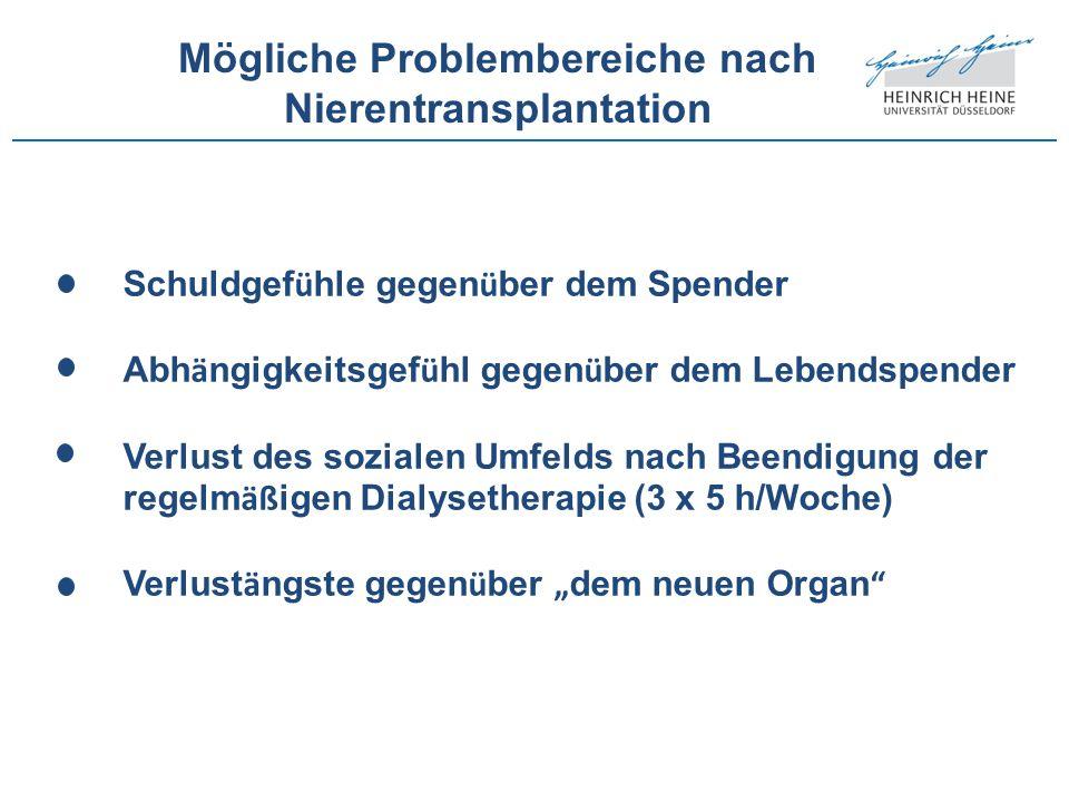 Mögliche Problembereiche nach Nierentransplantation