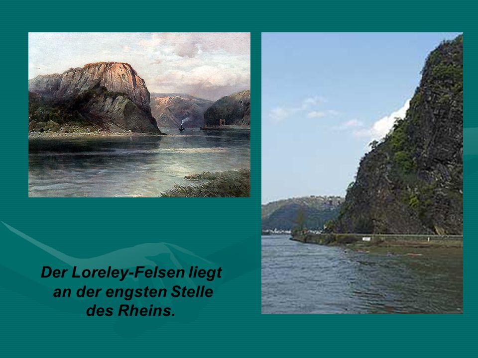 an der engsten Stelle des Rheins.