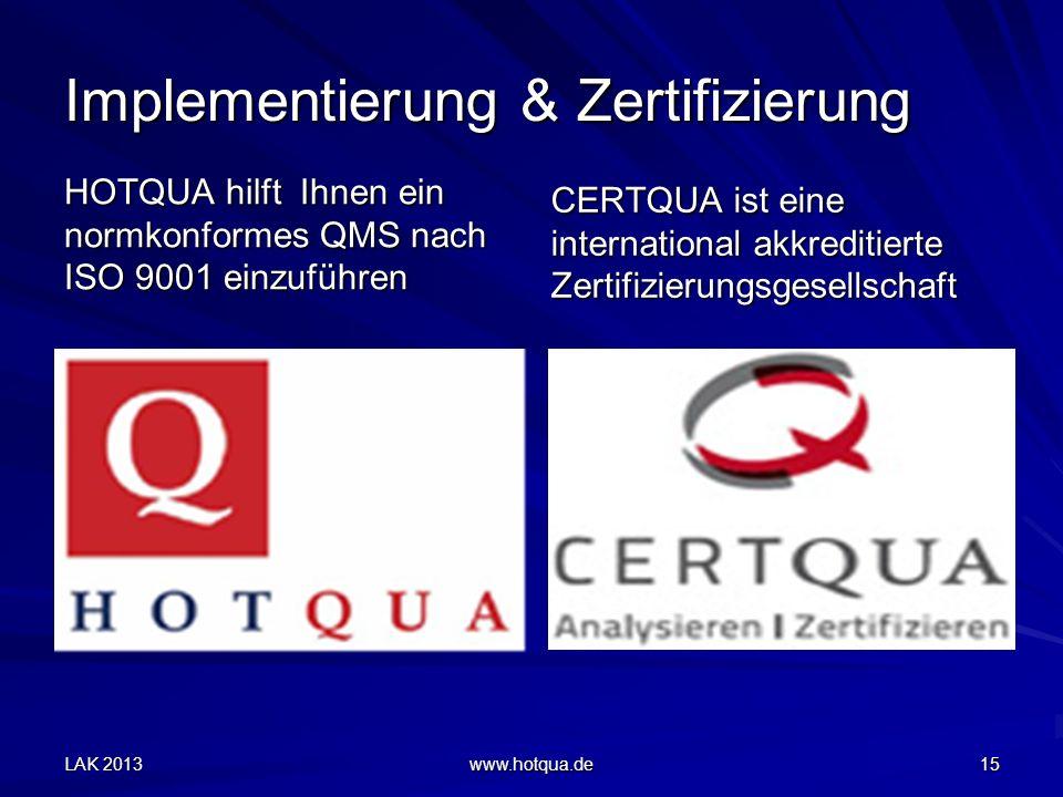 Implementierung & Zertifizierung