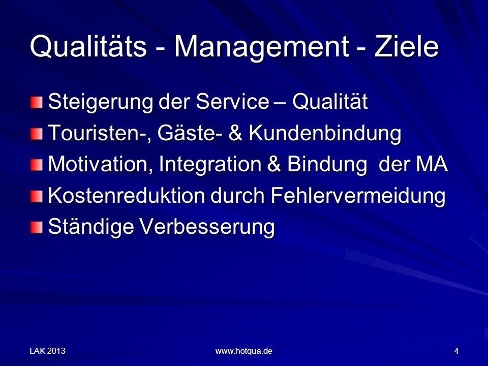 Qualitäts - Management - Ziele