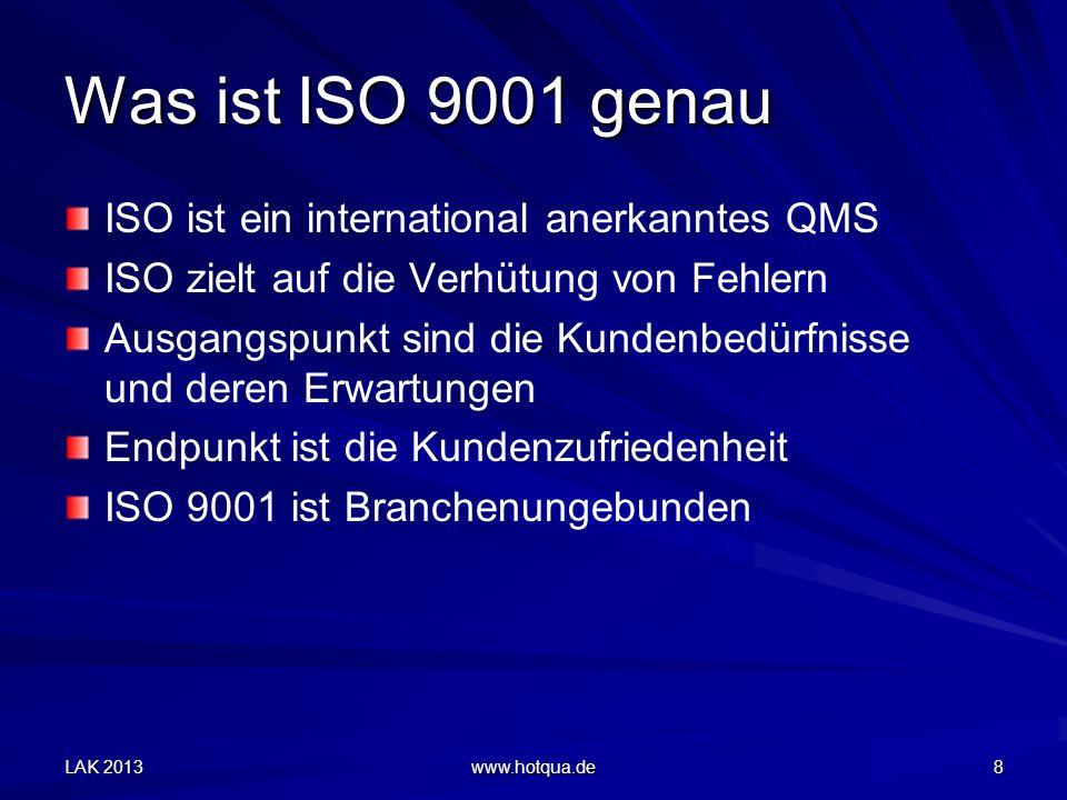 Was ist ISO 9001 genau ISO ist ein international anerkanntes QMS
