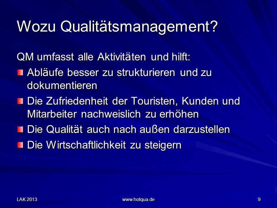 Wozu Qualitätsmanagement