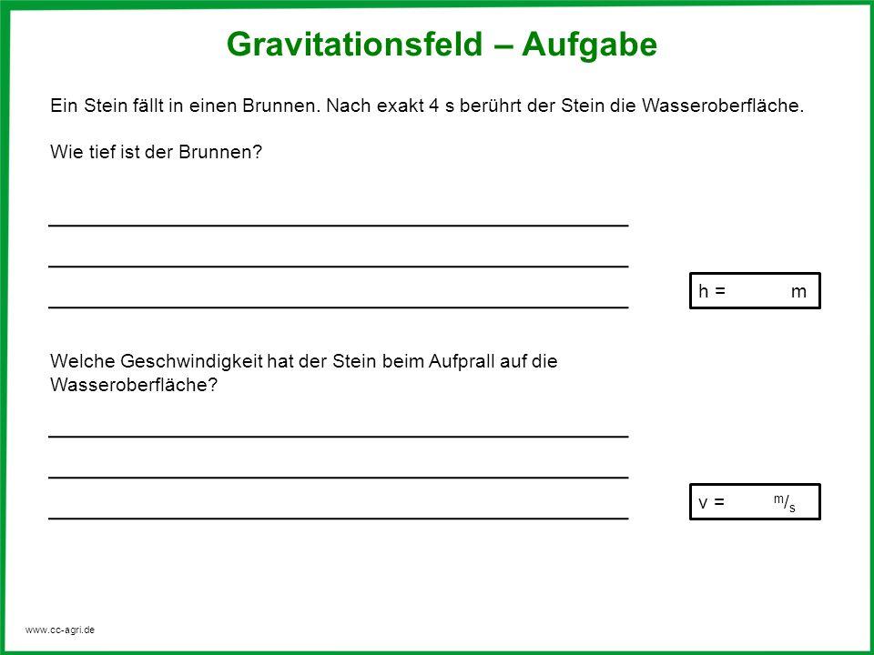 Gravitationsfeld – Aufgabe