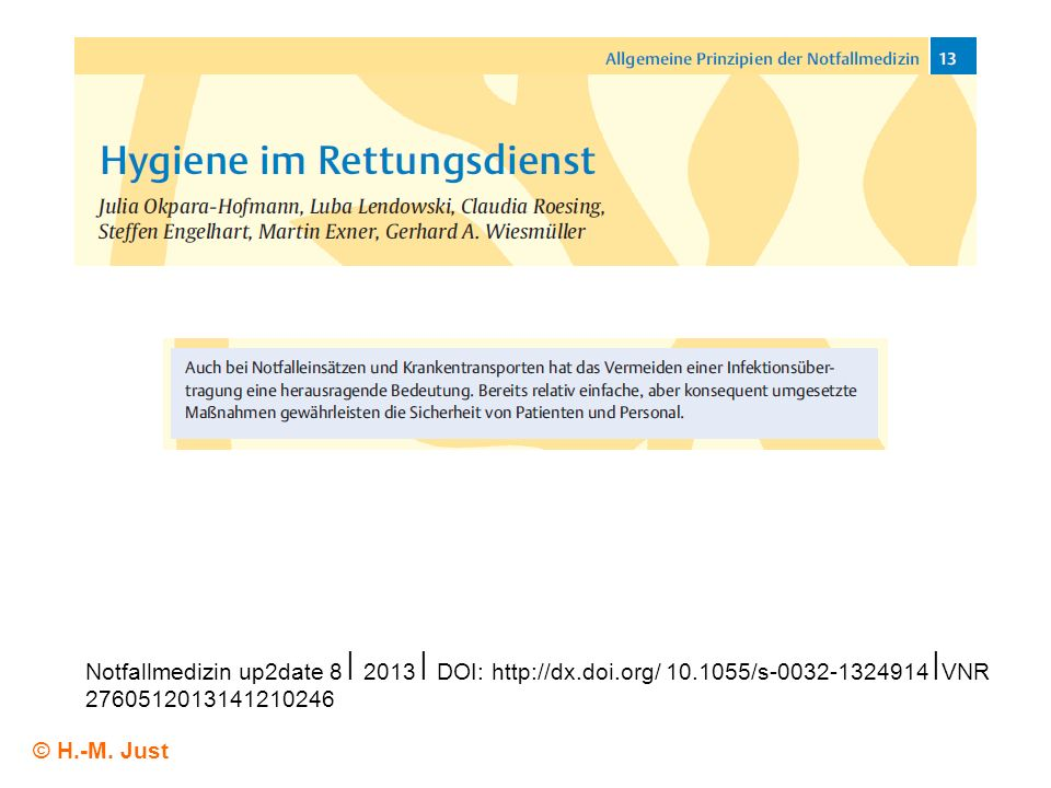 Notfallmedizin up2date 8 ⎢ 2013 ⎢ DOI:   doi. org/ 10