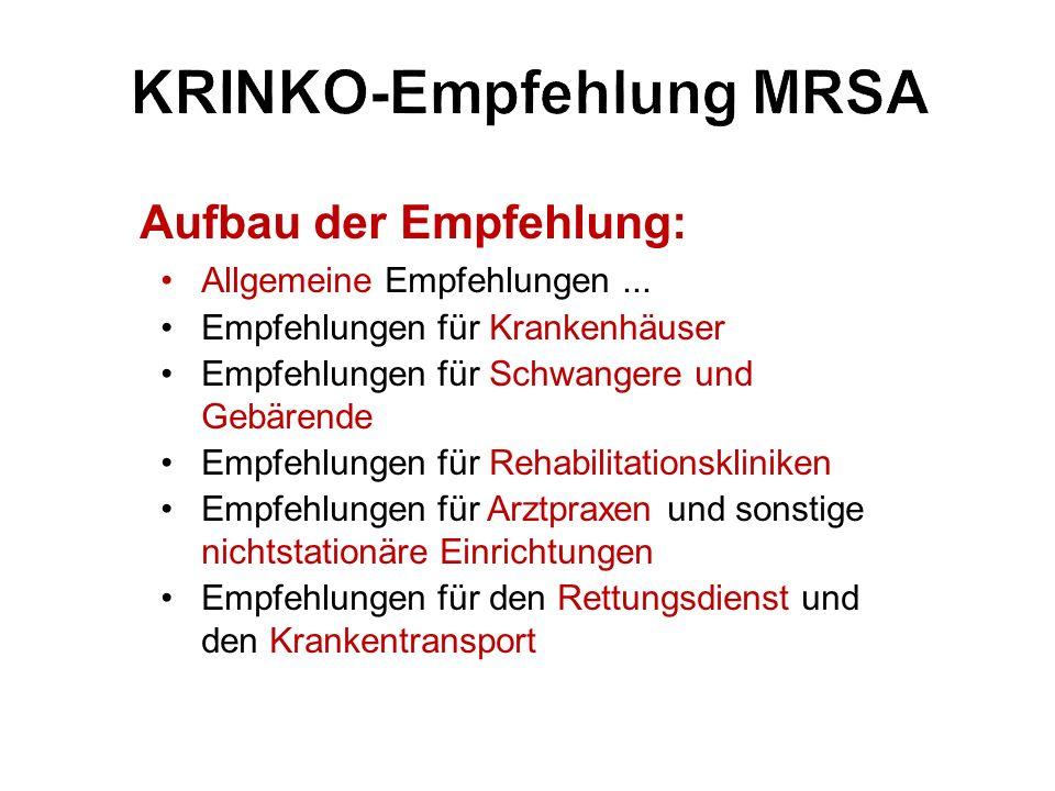 KRINKO-Empfehlung MRSA