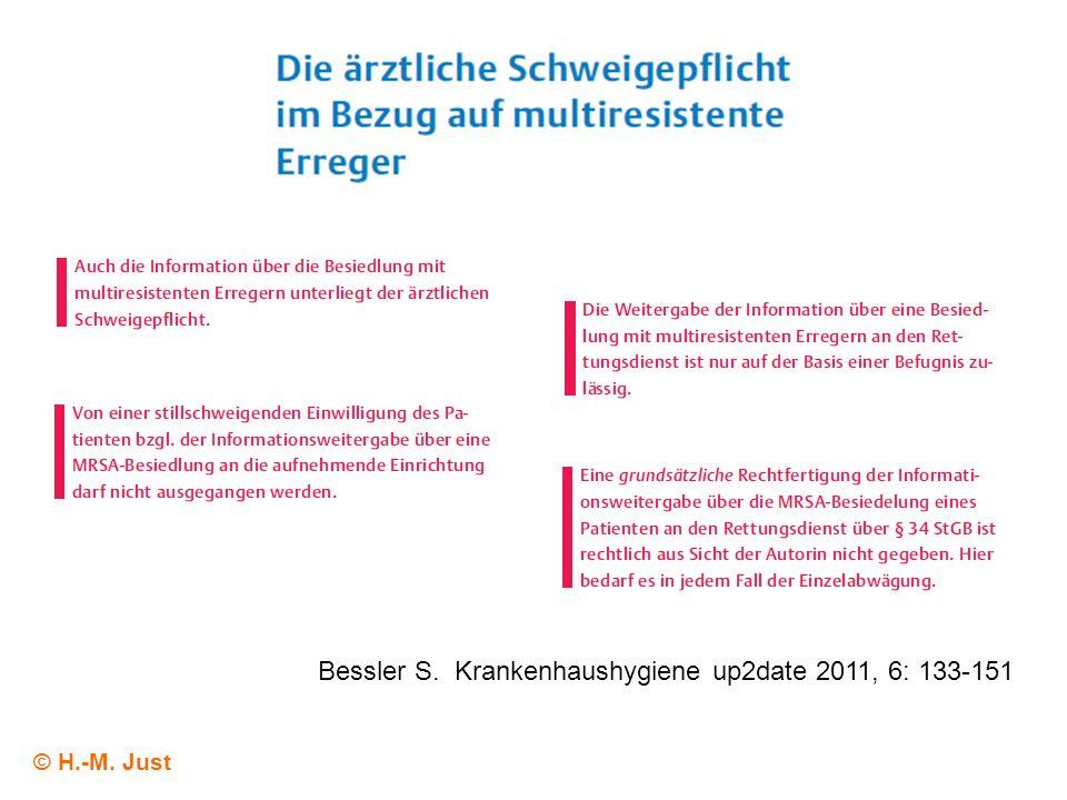 Bessler S. Krankenhaushygiene up2date 2011, 6: 133-151