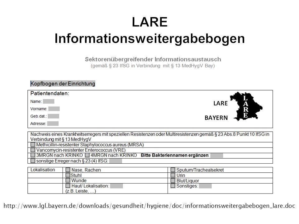 LARE Informationsweitergabebogen