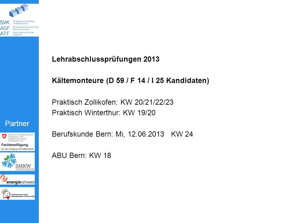 Lehrabschlussprüfungen 2013