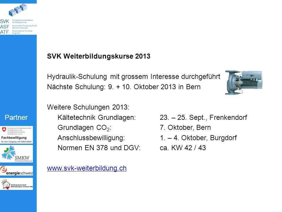 SVK Weiterbildungskurse 2013