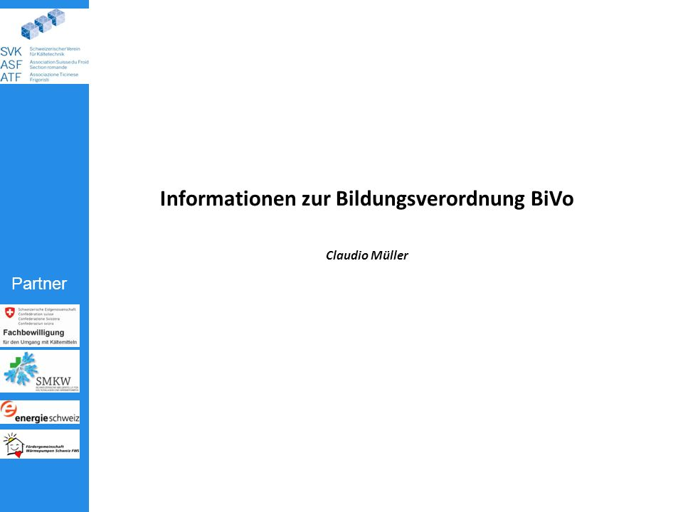 Informationen zur Bildungsverordnung BiVo