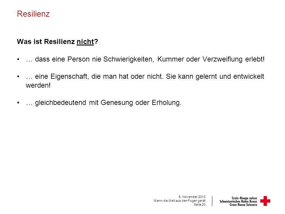 Resilienz Was ist Resilienz nicht