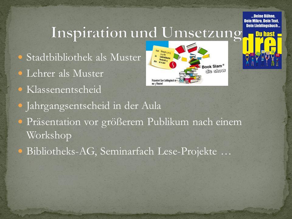 Inspiration und Umsetzung