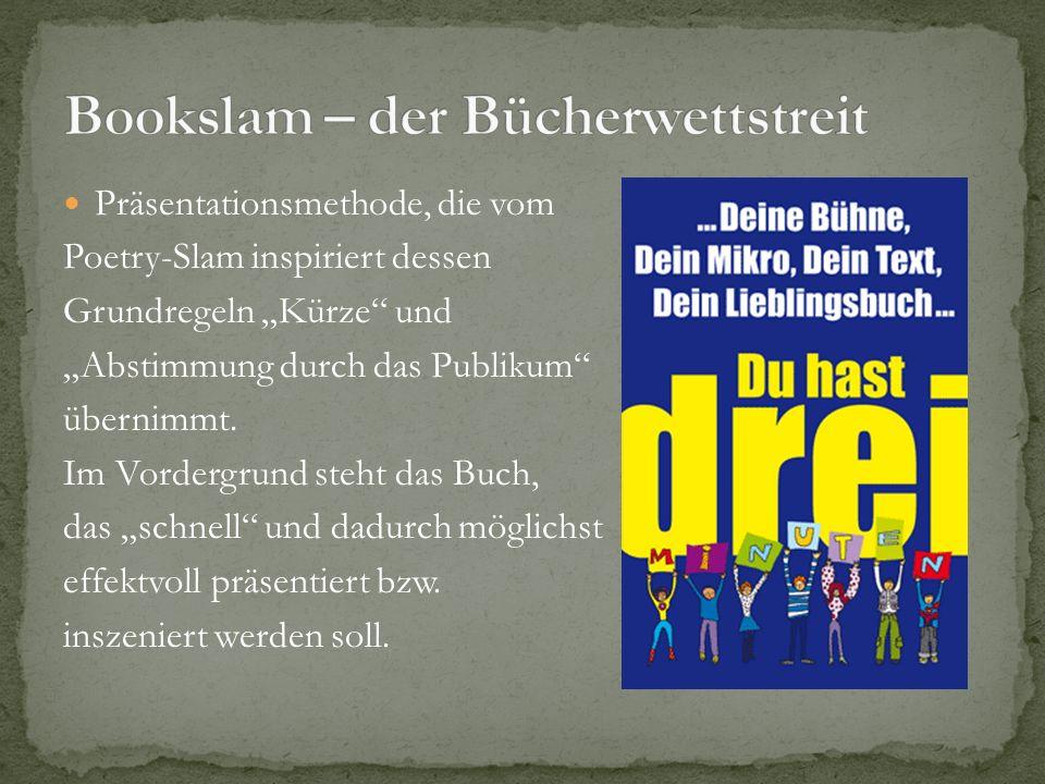 Bookslam – der Bücherwettstreit