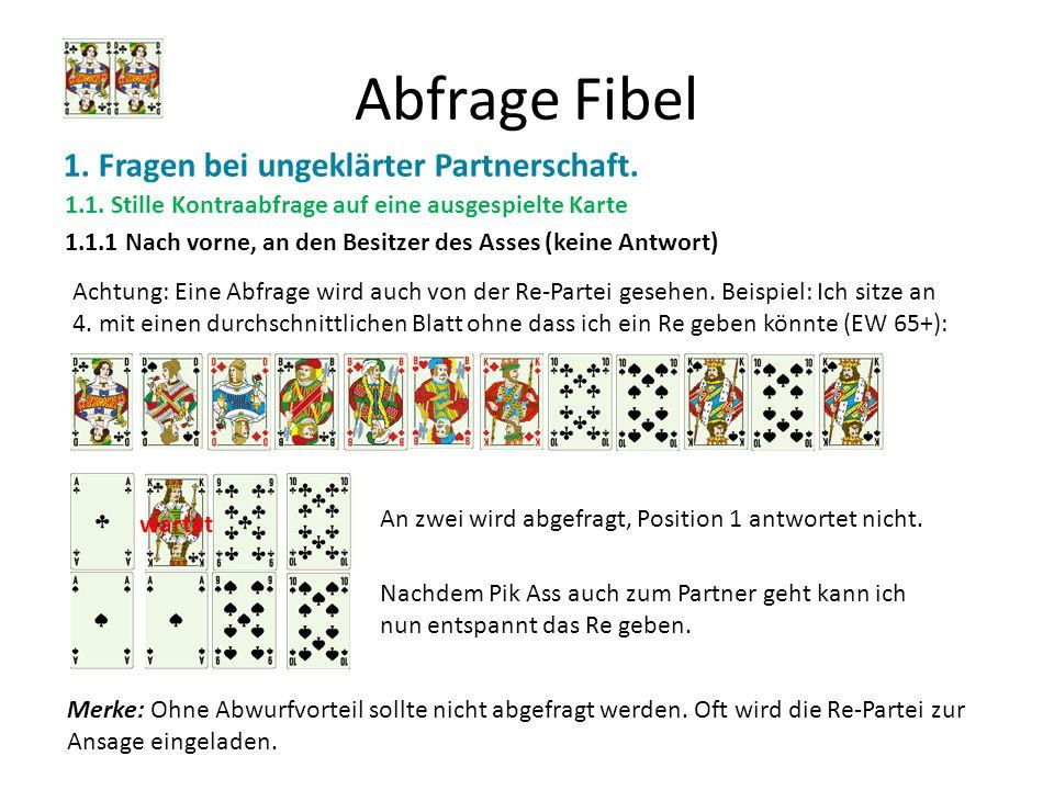 Abfrage Fibel 1. Fragen bei ungeklärter Partnerschaft.