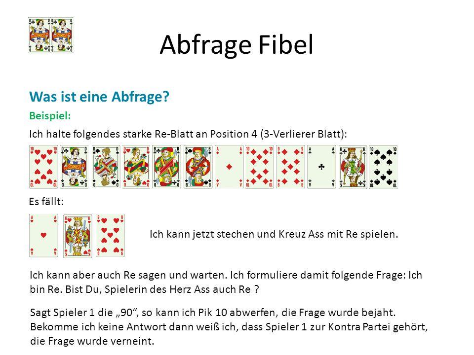 Abfrage Fibel Was ist eine Abfrage Beispiel: