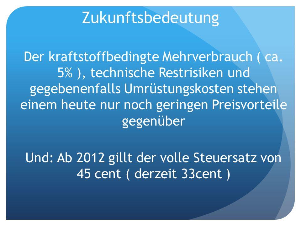 Und: Ab 2012 gillt der volle Steuersatz von 45 cent ( derzeit 33cent )