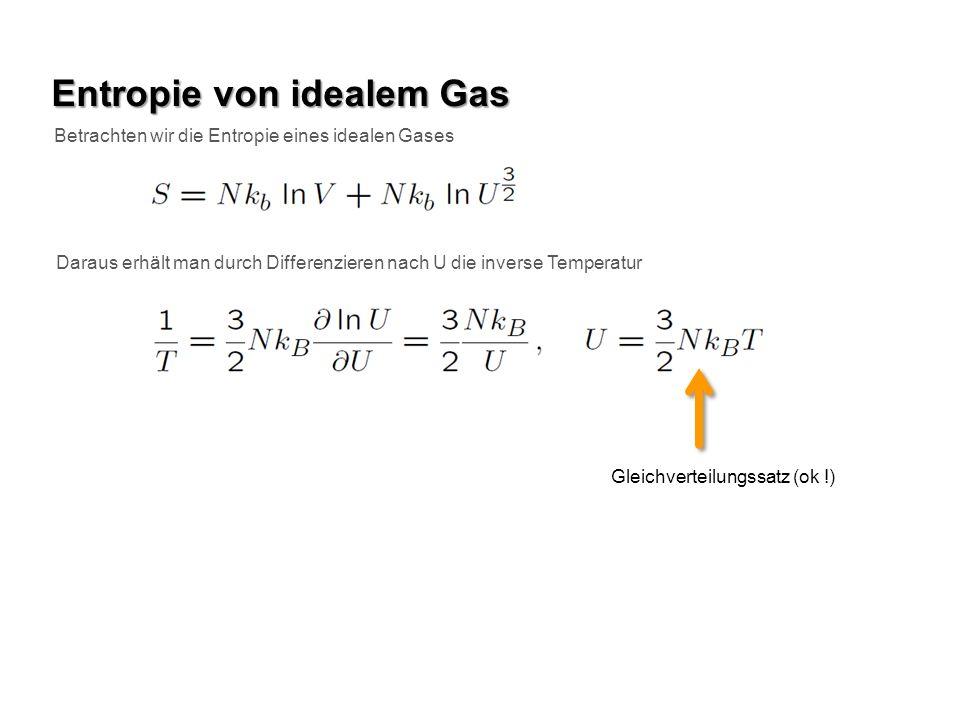 Entropie von idealem Gas