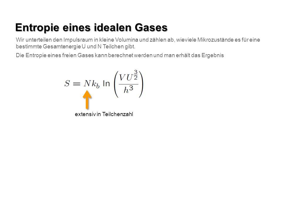 Entropie eines idealen Gases