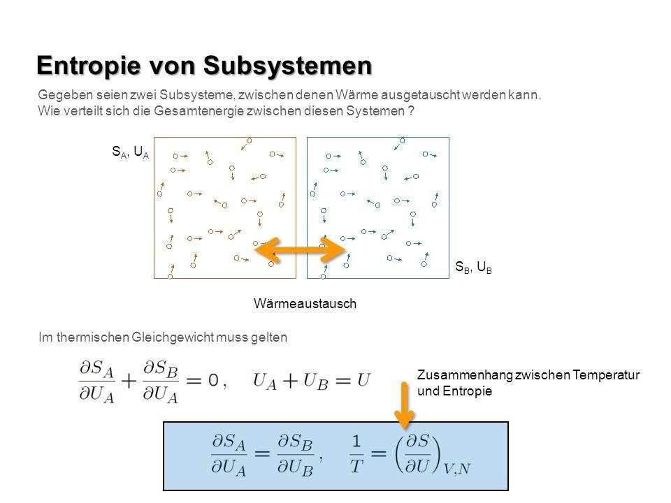 Entropie von Subsystemen