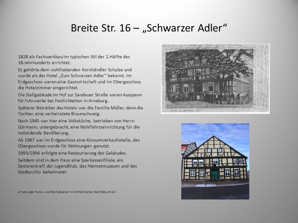 """Breite Str. 16 – """"Schwarzer Adler"""