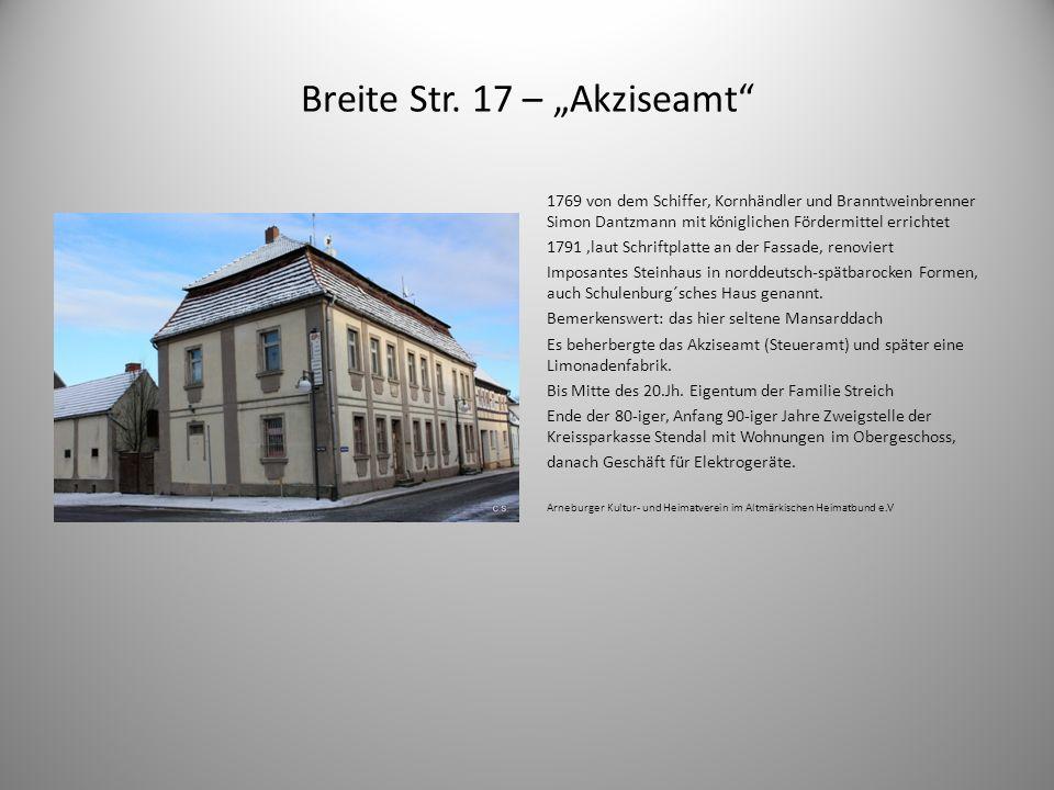"""Breite Str. 17 – """"Akziseamt"""