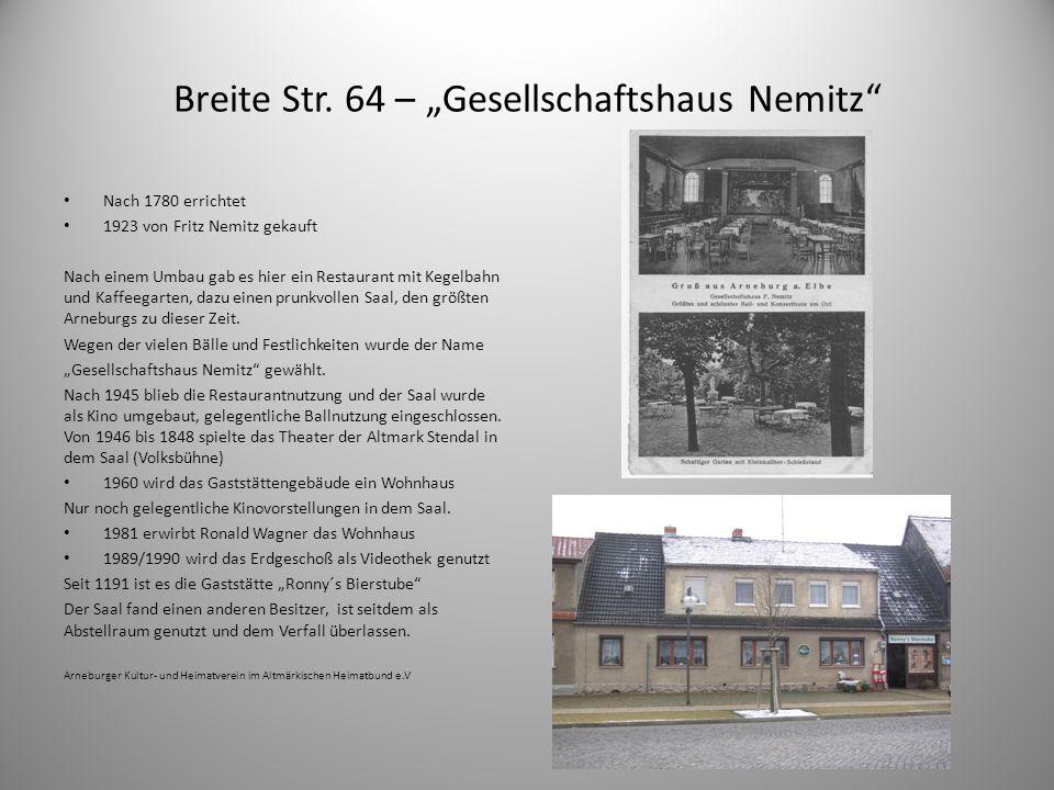 """Breite Str. 64 – """"Gesellschaftshaus Nemitz"""