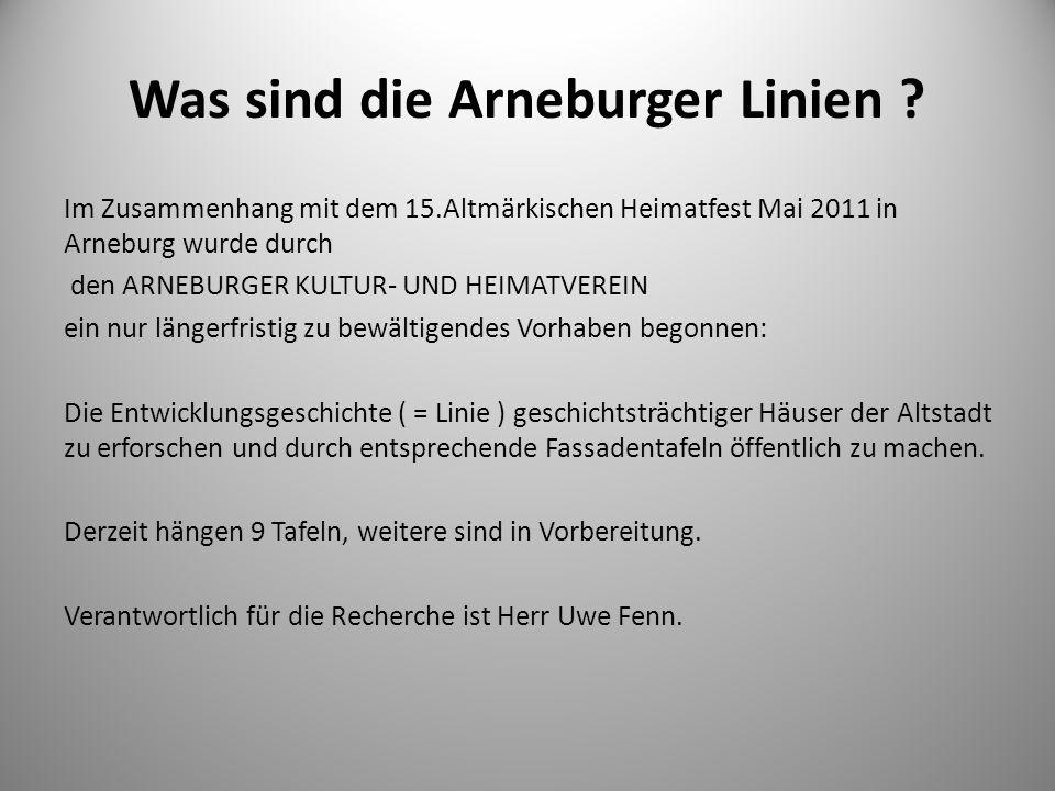 Was sind die Arneburger Linien
