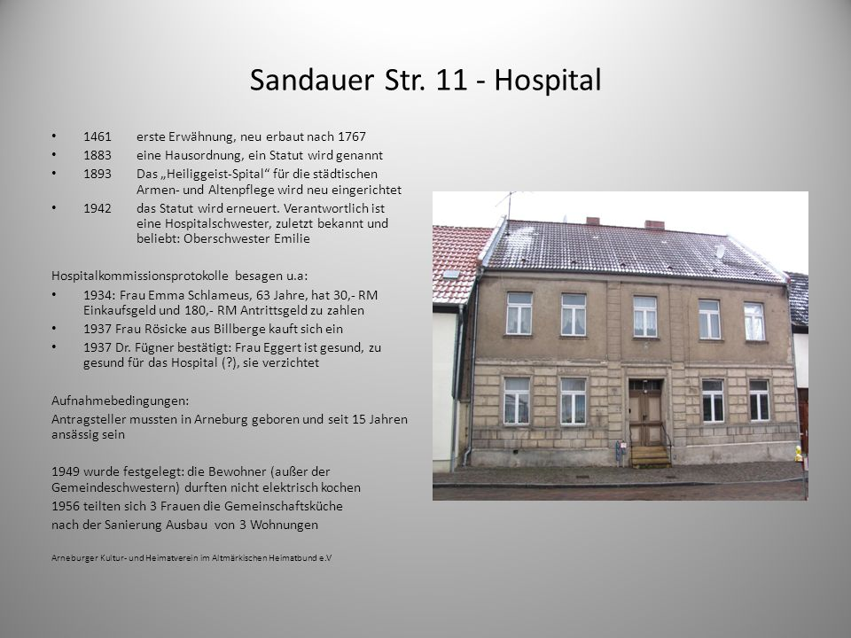 Sandauer Str. 11 - Hospital