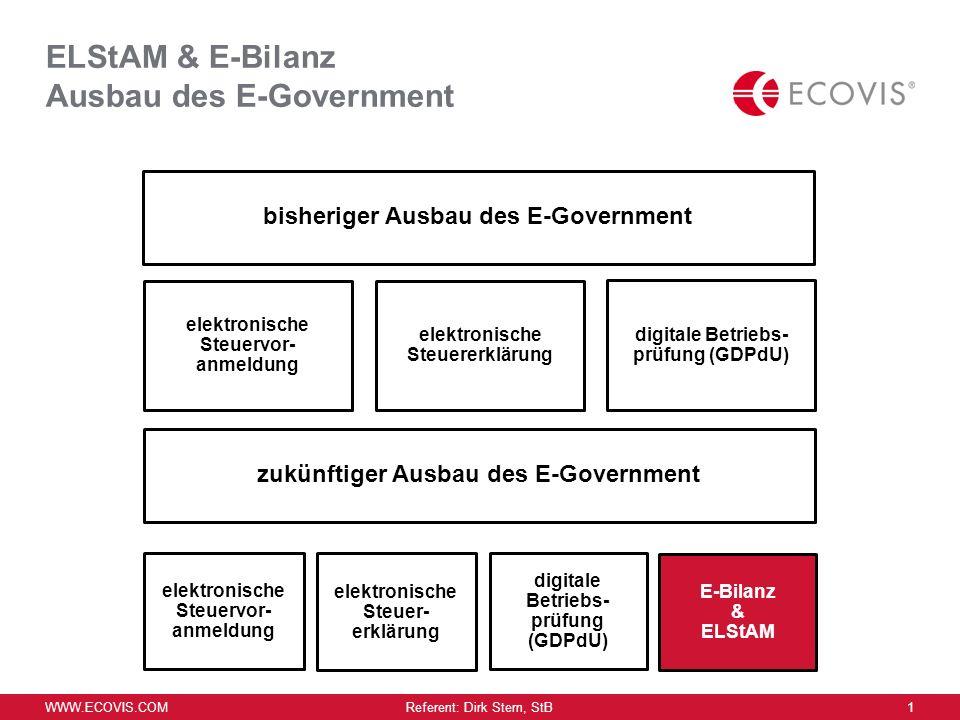 ELStAM & E-Bilanz Ausbau des E-Government