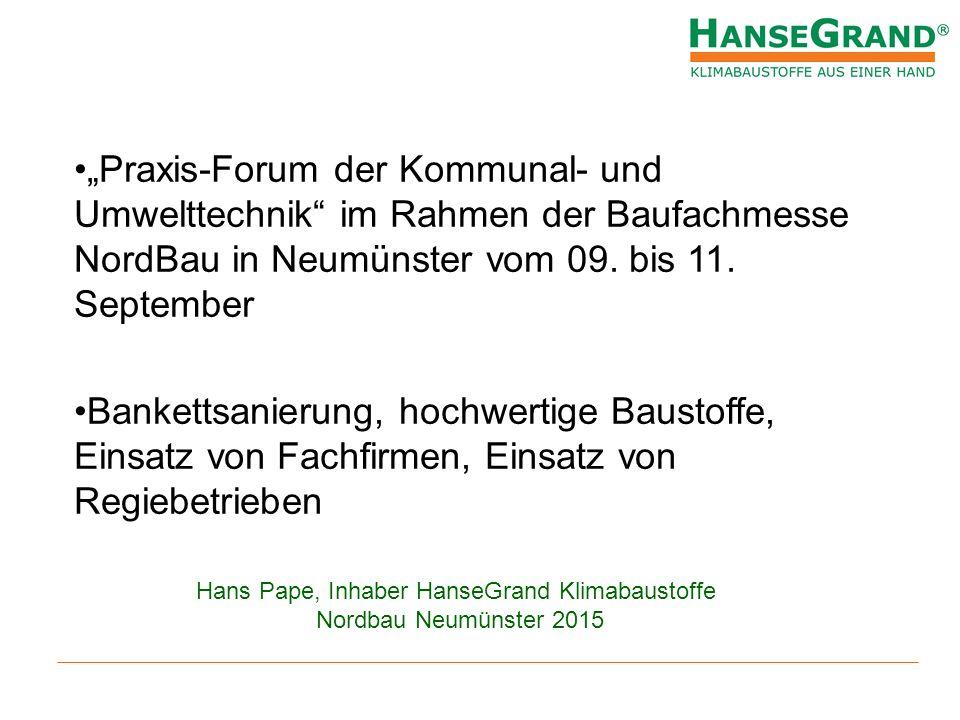 Hans Pape, Inhaber HanseGrand Klimabaustoffe