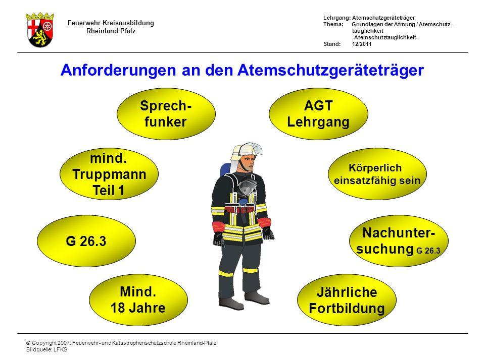 Anforderungen an den Atemschutzgeräteträger