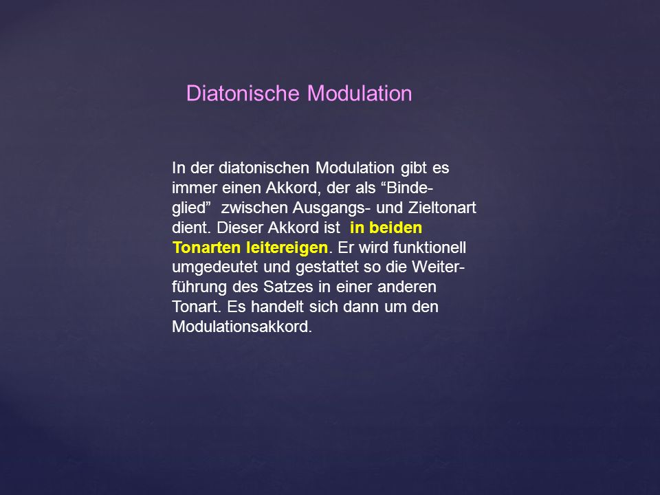 Diatonische Modulation