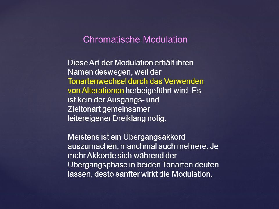 Chromatische Modulation