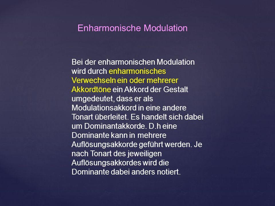 Enharmonische Modulation