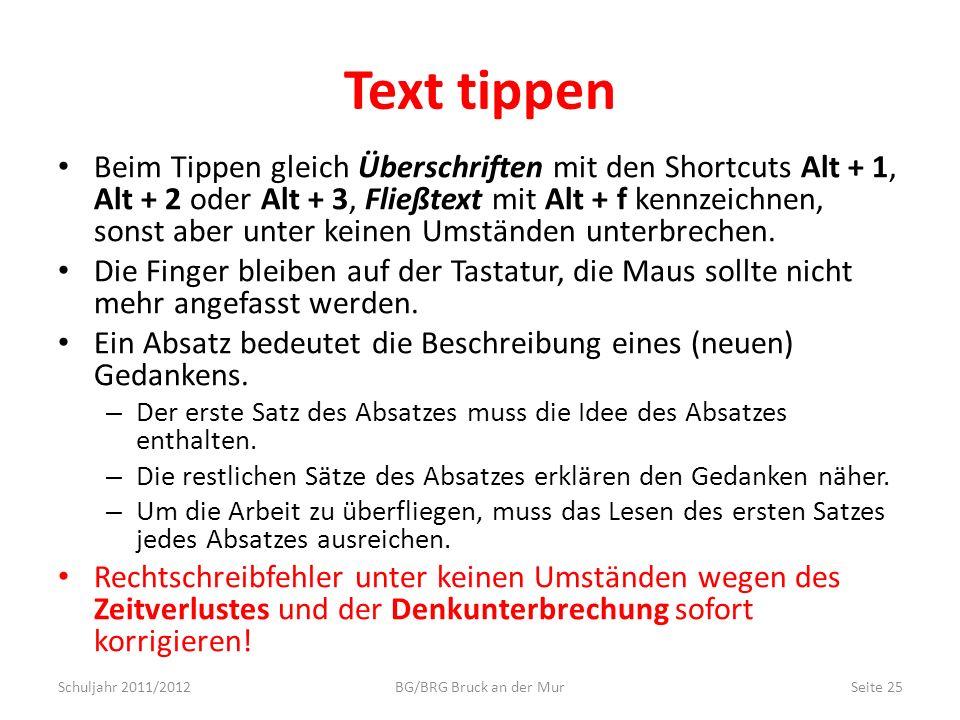 Text tippen