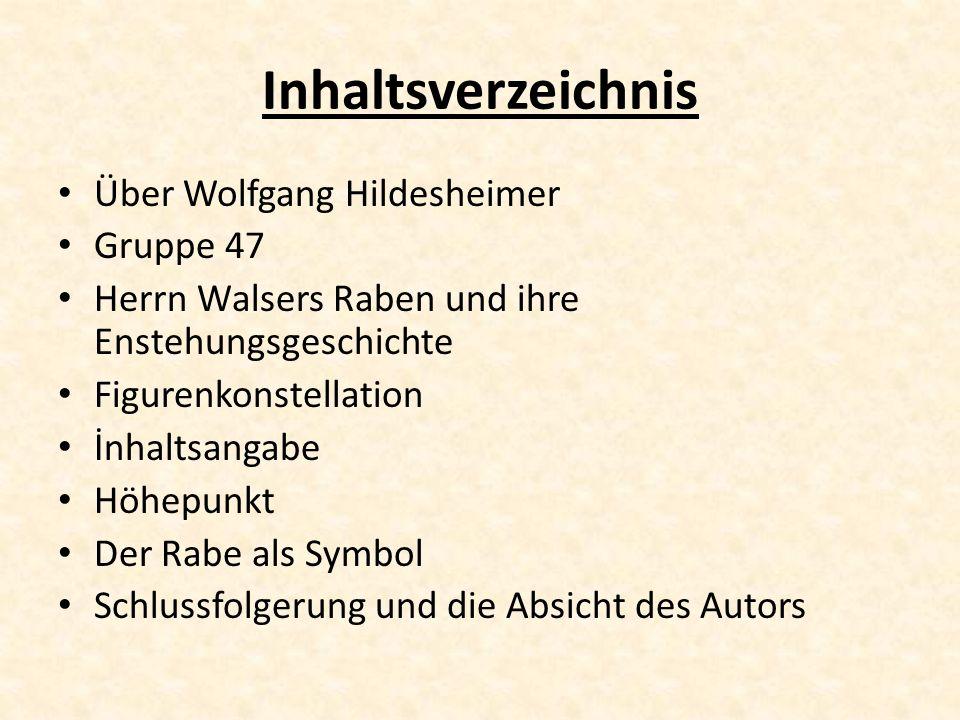Inhaltsverzeichnis Über Wolfgang Hildesheimer Gruppe 47