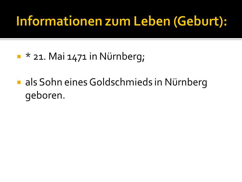 Informationen zum Leben (Geburt):