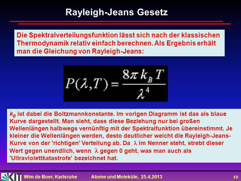 Rayleigh-Jeans Gesetz