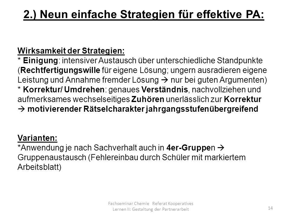 2.) Neun einfache Strategien für effektive PA:
